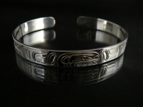 Native Orca Bracelet in Silver by William Cook