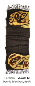 Harmony scarf by Native Northwest Coast artist Donnie Edenshaw