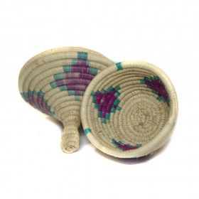 Woven Miniature Basket Ornament with Lid