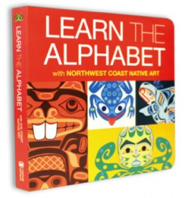 Learn the Alphabet board book with First Nations and Native art