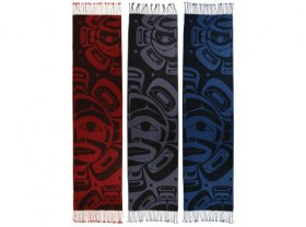 Merino Wool Shawls by Native Northwest Coast artist Klatle Bhi