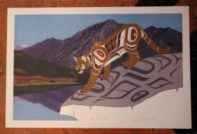 Mountain Lion Native Northwest print by Richard Shorty