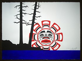 Native Northwest Artist Carl Stromquist West Coast Sun original painting