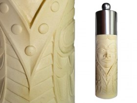 Ivory Native Princess Salt and Pepper Mill by BOMA