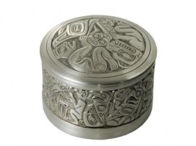 Pewter Sun Box Raven design by BOMA - Tribal Spirit Gallery